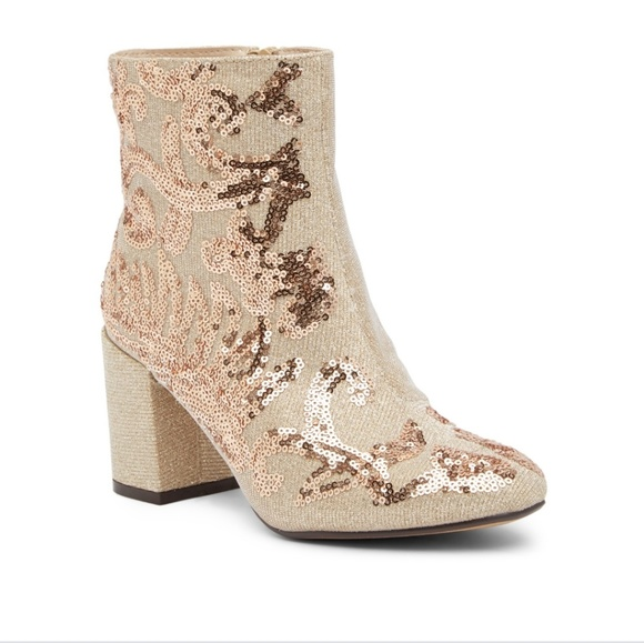 7d93013f4ce New gold sequin booties